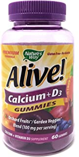 Nature's Way Alive! Calcium + D3 Gummies 60 Gummies
