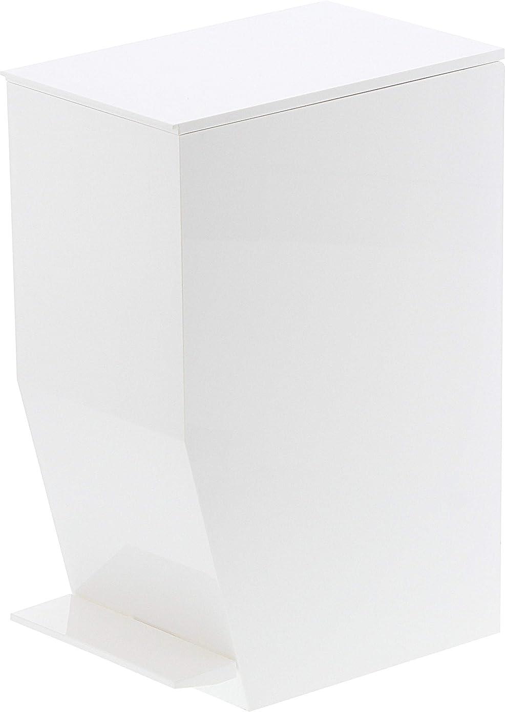 力千権限山崎実業 ゴミ箱 ペダル式トイレポット タワー ホワイト 3385