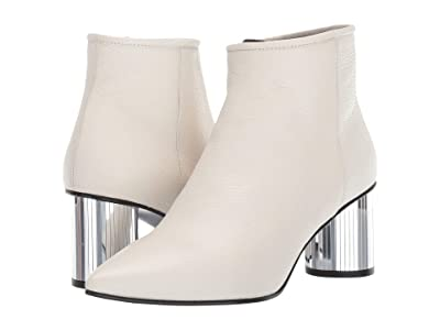 Pedro Garcia Berta (White Pebble Calf/Silver) Women
