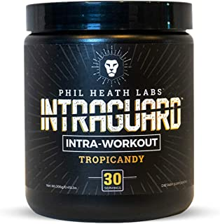 Phil Heath Labs Intraguard BCAA Intra-Workout Powder | Supplement for Energy, Pump & Recovery | Blended with Amino Acids, Glutamine & EAA | 30 Servings (TropiCandy)