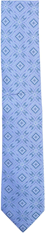 Stefano Ricci Men's Periwinkle Luxury Collection Italian Silk Large Arabesque Nec Necktie - One Size
