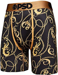 PSD Underwear Men's Printed Gold Leaf Chain Boxer Briefs