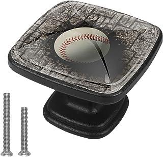 Baseball de Mur de Brique intégré Boutons D'armoire 4 Pcs Poignés Poignée De Champignons Boutons D'aluminium Porte Poignée...