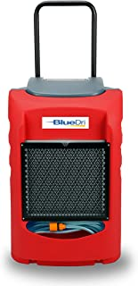 BlueDri LGR75C BD-BD-75C-RD Commercial Industrial Grade 75 Pint Dehumidifiers for Basements at Homes and Job Sites Red