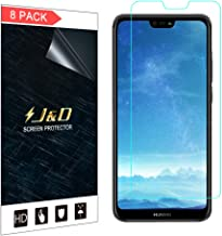 J&D Compatible for 8-Pack Huawei P20 Lite Screen Protector, [Not Full Coverage] HD Clear Film Shield Screen Protector for Huawei P20 Lite Crystal Clear Screen Protector - [Not for Huawei P20/P20 Pro]
