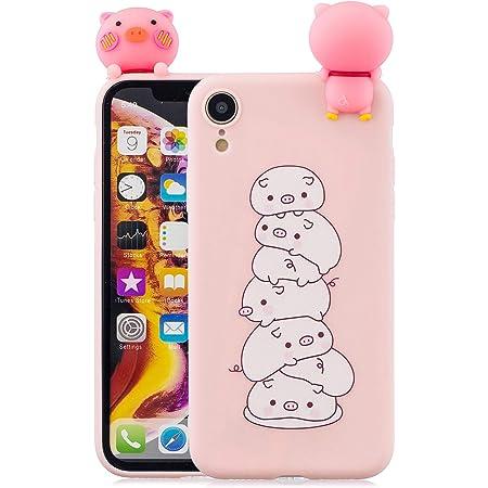 Cover iPhone XR Custodia, Dyluck Cover per iPhone XR in Silicone Morbido 3D Case Kawaii di TPU Sottile Custodia per iPhone XR Smartphone Anti-Urto ...