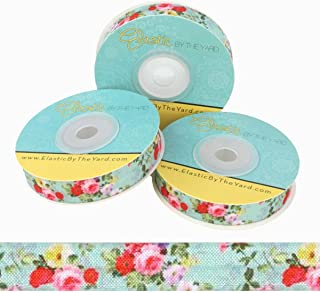 floral fold over elastic