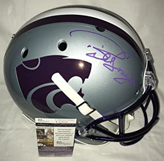 Bill Snyder Signed Autographed Kansas State Wildcats Full Size Football Helmet - Purple - Certified - JSA Certified