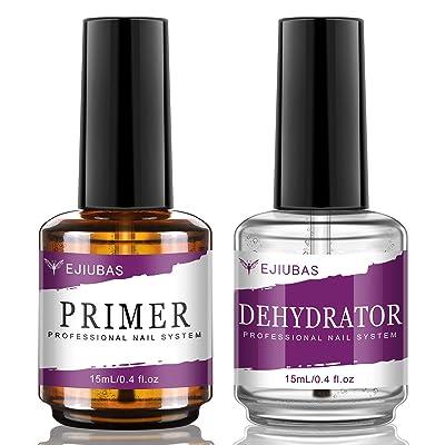 Ejiubas Nail Primer, Professional Natural Nail Prep Dehydrator