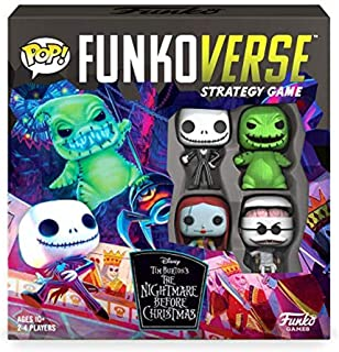 Funkoverse: Disney The Nightmare Before Christmas 100 4-Pack Board Game - Amazon First to Market...