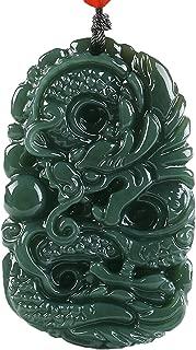 Boutique 100% Pure Natural Manual Sculpture Green Jade Gem Pendant Necklace Men or Women Necklace Pendant Amulet fine polishing