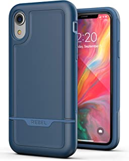 Encased iPhone XR Heavy Duty Protective Case [Military Grade] Full-Body Rugged Impact Protection (Rebel Blue)