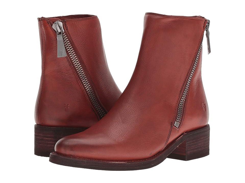 Frye Demi Zip Bootie (Red Clay Soft Full Grain) Women