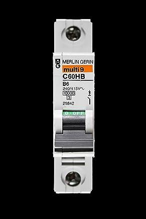 Merlin Gerin B 6 Amp MCB interruptor de circuito C60HB 25842