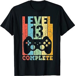 13 Anni Compleanno Maschio Ragazza Uomo Regalo Level 13 Maglietta