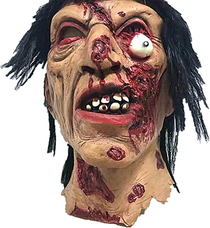 tomar hasta un 70% de descuento KTYX Horror Brunette Zombie Halloween Room Escape Haunted House Hombre Hombre Hombre Completo Props SCochey Latex Zombie Ghost Mask MásCochea  las mejores marcas venden barato