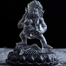 Tibetan Buddha Statue for Home Figurines, Five Way God of Wealth Sculpture Decor for Living Room, Glass Crafts Ornaments D...