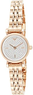 Emporio Armani Women's White/Rose Gold Dial Stainless Steel Analog Watch - AR11266