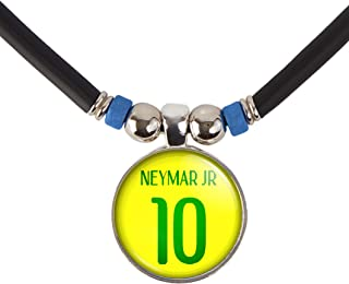 SpotlightJewels Neymar Jr. Brazil Soccer Jersey Necklace