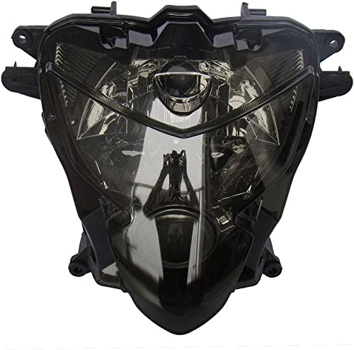 lowest Mallofusa Motorcycle Front Headlight high quality Headlamp Assembly Compatible for Suzuki GSXR600 GSXR750 2004 2005 K4 discount Smoke Lens outlet sale