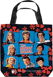Brady Bunch 1970's Old-Style Family Sitcom TV Series Cast Squares Tote Bag