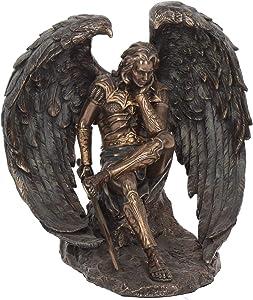 Nemesis Now Lucifer The Fallen Angel - Figura Decorativa (21 cm), Color Bronce