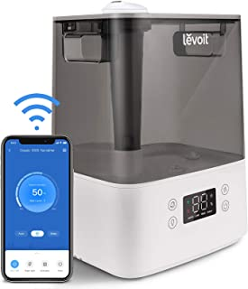 Levoit Humidifiers for Bedroom Home Large Room, 6L Smart WiFi Top Fill Cool Mist Air Ultrasonic Humidifier For Baby Plants Kids, Essential Oil diffuser, Quiet Easy Clean, Filterless, Work With Alexa