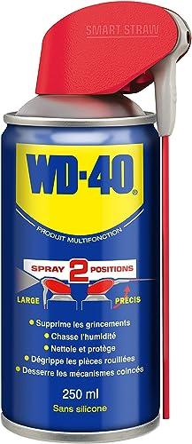 WD-40 • Produit Multifonction • Spray Double Position • Sans Silicone • Non Conducteur • Compatible Plastiques, Caout...
