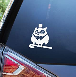 Natrire Car Magnets Stickers 15Cm X 14Cm Wise Owl Creative Decals JDM Cartoon Car Styling Auto Motorcycle Decor Animal Car Sticker