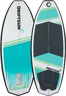 "Driftsun Throwdown Wakesurf Board - Surf Style Wakesurfer, Quad Futures Fin Set Included, Available in 4` 8"" & 4` 6"" Lengths"