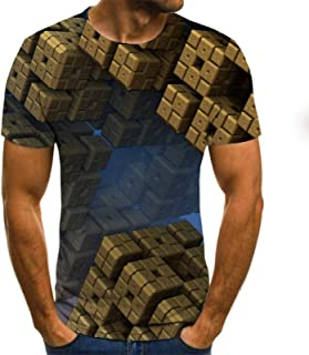 2021 New 3D Printing Men's T-shirt, Casual Short-sleeved Men's Fashion Breathable And Comfortable Hip-hop Shirt