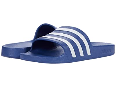 adidas Adilette Aqua Slides (Crew Blue/White/Crew Blue) Women