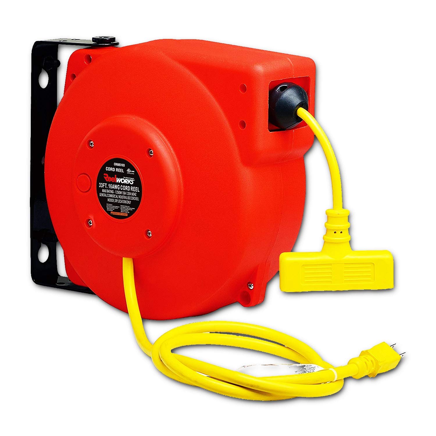 Sale special price REELWORKS Heavy Duty Extension Cord Reel T SJT Triple 3C Max 74% OFF 16AWG