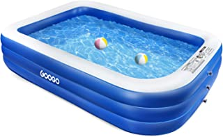 "GOOGO Family Inflatable Swimming Pool, 118""x72""x20"" Full-Sized Inflatable.."