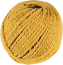 Craft County 50 Meter Skein of 4mm Diameter Crafting Cotton Rope (Gold)