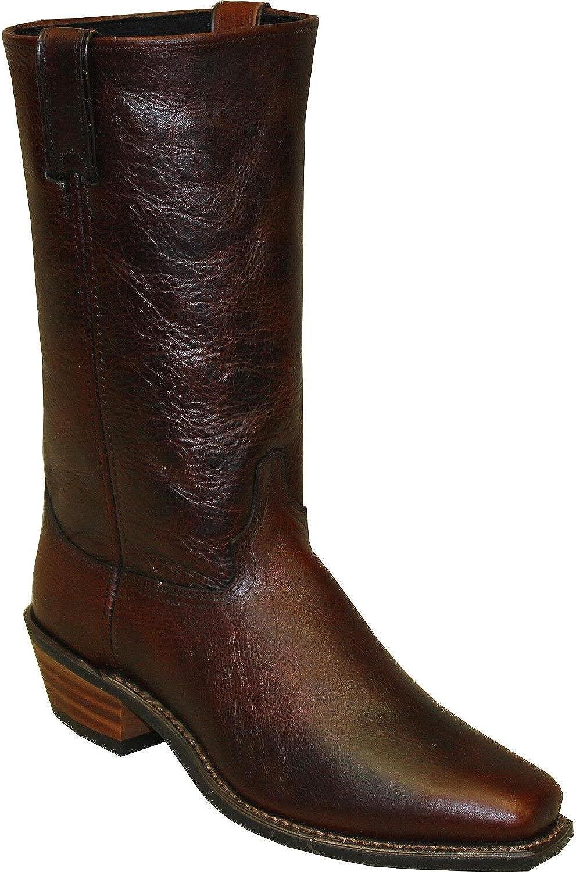 Abilene Men's 12  Flat Top Cowhide Western Boot Square Toe - 6477