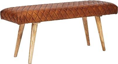 Stile Rustico KS-Furniture 31 cm Portariviste in Legno Massiccio Sheesham a Forma di X