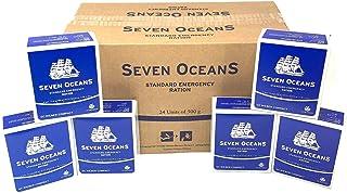 Seven Oceans 2 Meses de superviviencia Food Pack 24 x 500 g Long Life Biscuit rations