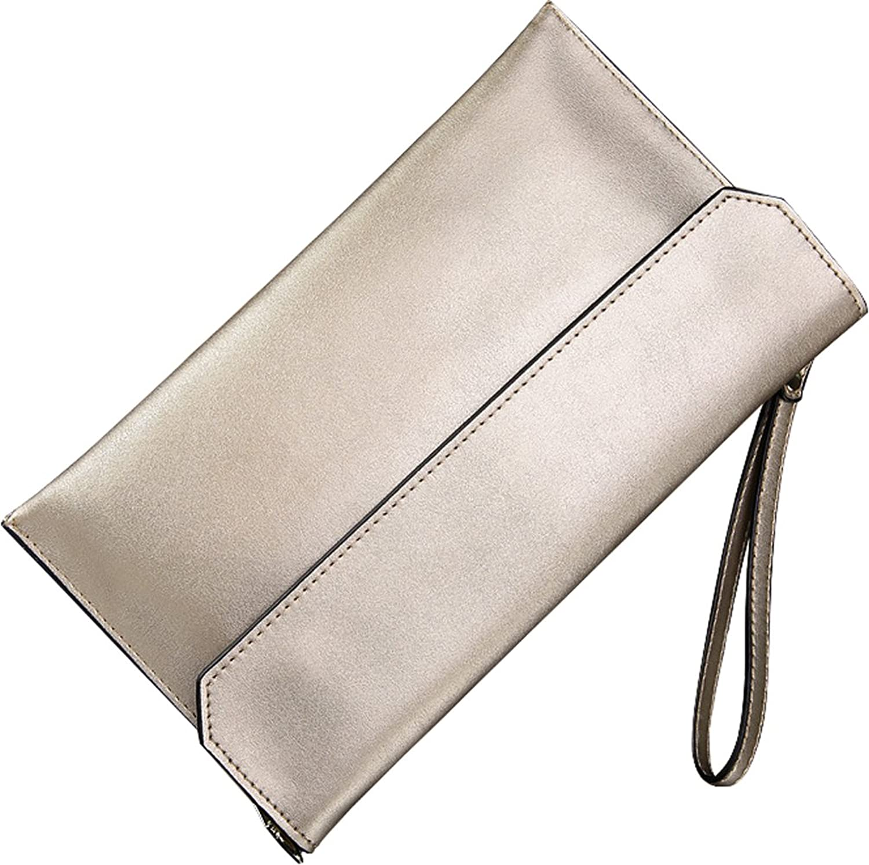 Covelin Women's Wristlet Clutch Handbag Genuine Leather Envelope Evening Shoulder Bags