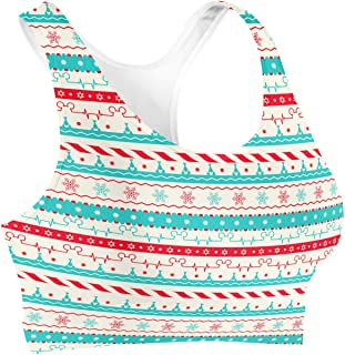 Rainbow Rules Christmas Candycane Disney Heartbeat Sports Bra