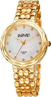 August Steiner Women's Quartz Watch, Analog Display and Stainless Steel Strap