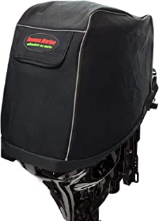 SEAMAX Universal Outboard Motor Cowling Cover with 3-Layers Welded Sunlitec Fabric and Reflective Edges