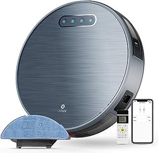 Aspirateur Robot Laveur 4500mAh 3H Durée d'autonomie Aspirateur Robotique Wifi avec 2000Pa d'aspiration, Application Alexa...