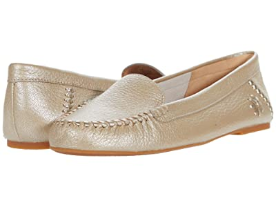 Jack Rogers Millie Moccasin Tumbled Leather (Platinum) Women