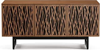 BDI 8777 WH-ME-WL Elements Triple Wide Cabinet with Media Base, Wheat Doors, Natural Walnut