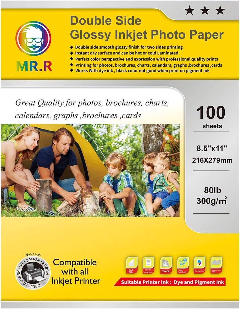 MR.R Double Dealing full price reduction Side Glossy Inkjet Paper Letter 8.5