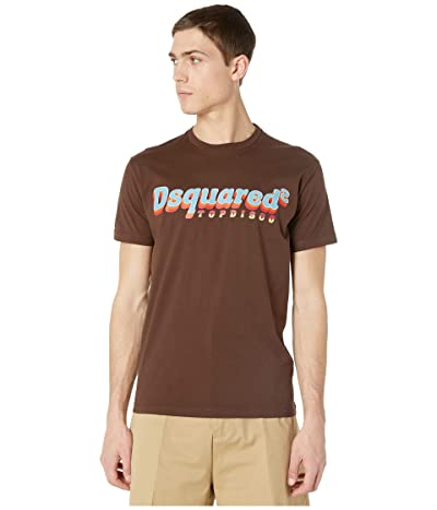 DSQUARED2 Ringer Top Disco T-Shirt (Brown) Men