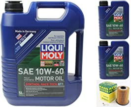 Mann Oil Change Kit w Filter HU926/4x + LIQUIMOLY 10W-60 Compatible with BMW M3 E36/E46 3.0L OR 3.2L 94-06