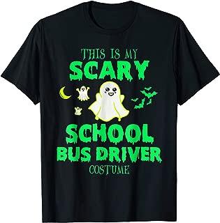 Scary School Bus Driver Costume Halloween T-Shirt