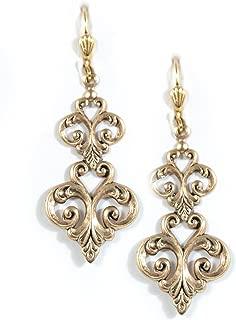 Clara Beau Double Fleur De Lis Filigree Earrings ER87